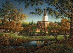 Sunday Morning (Terry Redlin Collection) Religious Jigsaw Puzzle